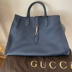Gucci Jackie Soft Blue Leather Tote